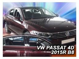 Deflektory - protiprievanové plexi VW Passat B8 Sedan (+zadné, 4-dverový, od r.v. 2014)