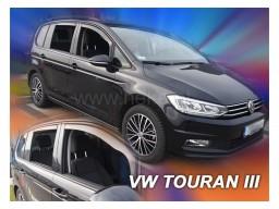 Deflektory - protiprievanové plexi VW Touran (+zadné, 5-dverový, od r.v. 2015)