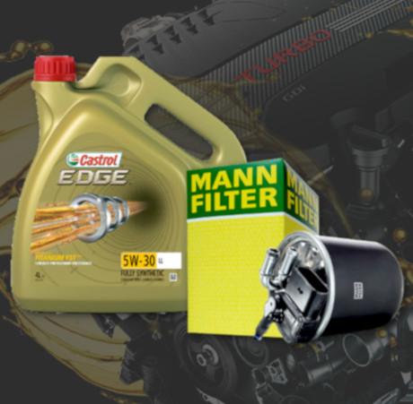 Sady oleja a filtrov