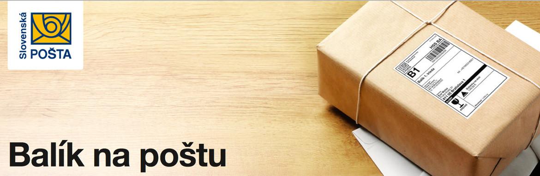 Slov. pošta - Balík na poštu
