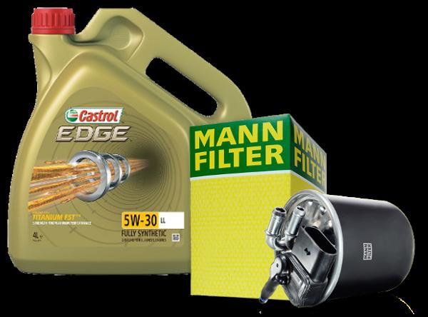 Olej a filtre pre Audi A1
